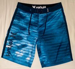 Hurley 20 inch Boardshorts, Size 30, Blue, New Without Tags,