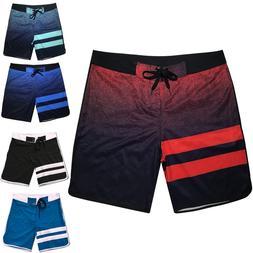 2019 New Men Summer Quick Dry Board Shorts Elastic Surfing F