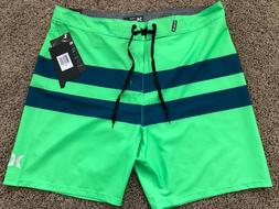 $55 BRAND NEW HURLEY PHANTOM BLACKBALL MENS GREEN BOARD SHOR