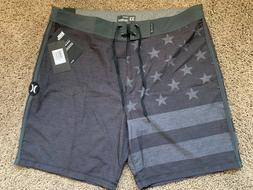$55 - BRAND NEW HURLEY PHANTOM MENS BOARD SHORTS PATRIOT USA