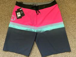 $55 BRAND NEW HURLEY PHANTOM MENS BOARD SHORTS PURE GLASS PI