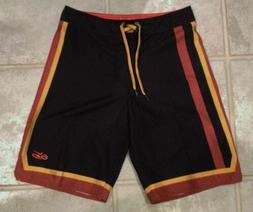 NIKE 6.0 Full Court Black Board Shorts Swim Trunks Boardshor