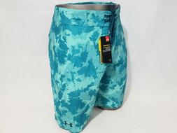 "$60 Under Armour Reblek Men's Size 36"" Board Shorts Teal"
