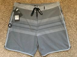 $65 BRAND NEW HURLEY PHANTOM MENS BOARD SHORTS GRAY YESTERDA
