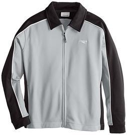 Speedo 7201492 Unisex Streamline Warm Up Jacket, Black/Green