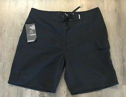 """HURLEY One And Only 19"""" Black Boardshorts  - Sz 38"""