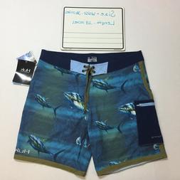 Huk Men's KC Scott Tuna Baitball Size 36 Navy Fishing Boards