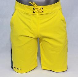 Huk Performance Fishing Mens Board Shorts Swim trunks yellow