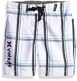 Hurley Boys' Toddler Board Shorts, White, 3T
