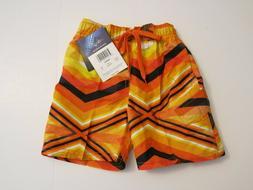 Kanu Surf Toddler Boys 4T  Surf Swim Board Shorts Orange Bla