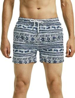 MaaMgic Mens Quick Dry Swim Trunks with Mesh Lining Patterne