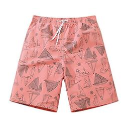 Mens Ultra Quick Dry Sailboard Sketch Fashion Board Shorts M