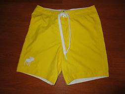 Mens XS 28 29 Teen BoysAbercrombie & Fitch Yellow Board Shor