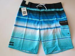 NWT Billabong Men's 40 All Day Blue Stripe Surf Hawaii Board