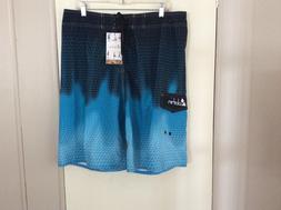 NWT Men's Clothin Black & Aqua Board Shorts Swim Trunks Size