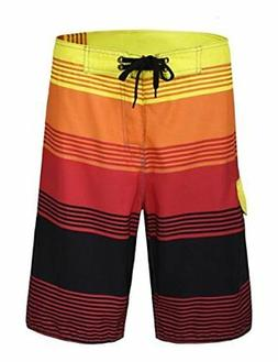 Nonwe Men's Swim Trunks Boardshorts, Quick Dry Breathable Me