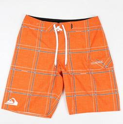 """Quiksilver Mens Electric 21"""" Boardshorts Mandarin Red Size 3"""