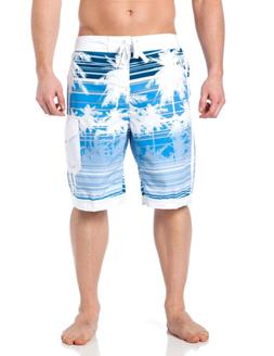 Alki'i Men's Boardshorts - Isla Palms, M, Blue