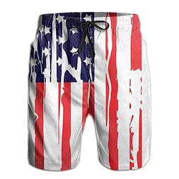 Fimaliy America Flag Independent Day Newest Men's Workout&Sw