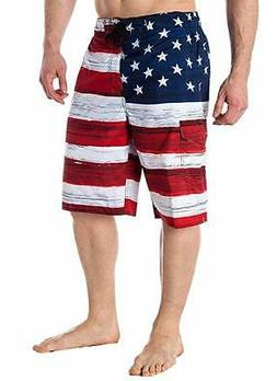 American Flag Board Shorts USA Old Glory Mens Swim Trunks Pa