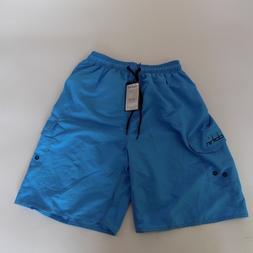 CLOTHIN Beach Trunks Boardshort Blue 36 runs small Quick Dry