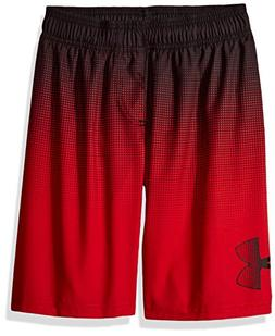 Under Armour Big Boys' Volley Swim Shorts, Red, S