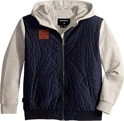 Quiksilver Boys' Big Leno Bay Flacket Youth Zip UP Jacket, B