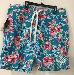 board shorts katya aqua blue floral cargo