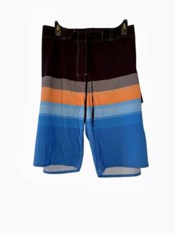 Nonwe Board Shorts Swim Trunks Quick Dry Size 42 Black Blue