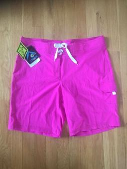 Board Shorts Women's Kanu Surf Swim Shorts SPF 50+ Hot Pin
