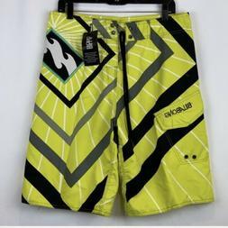 Billabong Boardshorts 34 Yellow Black Gray