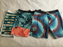 "Rip Curl Boardshorts Men's Size 34 Mid Leg 19"" NWOT + RVCA"