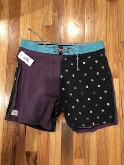 """Globe Boardshorts NWT Keele 17"""" 31 Bathing Suit Purple Rar"""