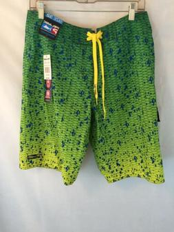 Pelagic Boardshorts shorts Size 32 Dorado Green Micro-Tek Qu