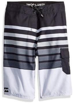 Billabong Boys' Big Day OG Stripe Boardshort, Black, 23