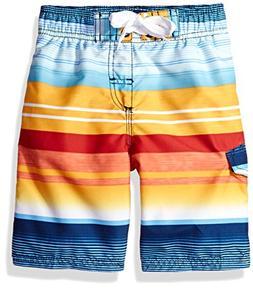 Kanu Surf Boys' Big Victor Stripe Quick Dry Beach Board Shor