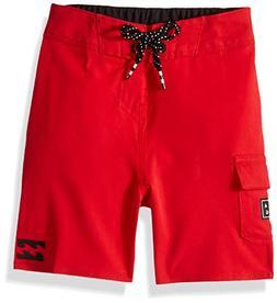 Billabong Boys' Little Classic Solid Boardshort, red, 3T