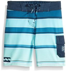 Billabong Boys' Big Classic Stripe Boardshort, Green, 25