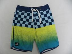 "Quiksilver Boys OG Scallop Multi-Color 18"" Boardshorts Swimw"