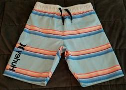 HURLEY BOYS Size 4 Board Shorts Swim Trunks Blue, Orange & W