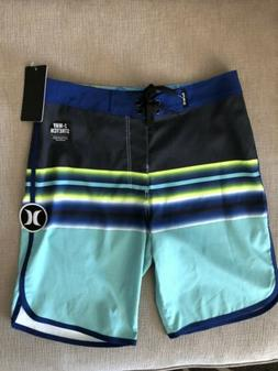 Boys Youth Hurley Boardshorts Size 12/26 Multi Color Blue Bl