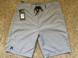 BRAND NEW HURLEY MENS BOARD SHORTS GRAY ONE AND ONLY SIZE 29