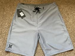 BRAND NEW HURLEY MENS BOARD SHORTS ONE AND & ONLY GRAY 32 33
