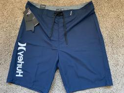 BRAND NEW HURLEY NAVY BLUE MENS BOARD SHORTS ONE AND ONLY 28