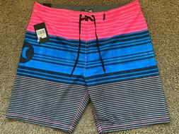 BRAND NEW HURLEY STRANDS SS PINK BLUE MENS BOARD SHORTS 28 2