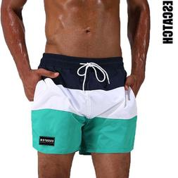 Escatch Brand Swimsuit Men's Swimming Trunks Quick Dry Surf