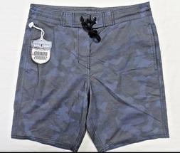 Camo Surf to Street Boardshorts Swim Shorts Camo Blue Sz 32