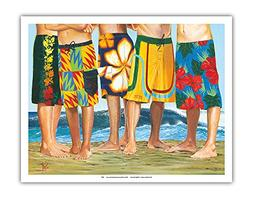 Pacifica Island Art Casual Friday - Surfer Long Board Shorts