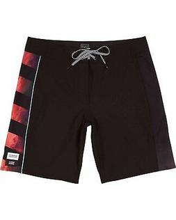 "Billabong D'Bah X Asymetric 18"" Boardshorts - Black - Mens B"