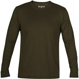 Hurley Dri-Fit One & Only 2.0 Long Sleeve Shirt, Olive Canva